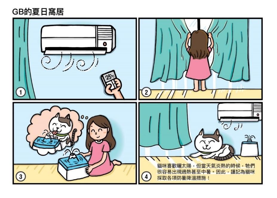 【毛孩子】小朋友都做得到!愛貓消暑小貼士